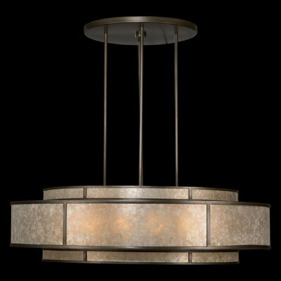 Singapore Moderne 12-Light Drum Pendant Finish: Brown Patinated Bronze