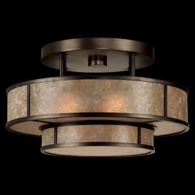 Singapore Moderne 3-Light Semi Flush Mount