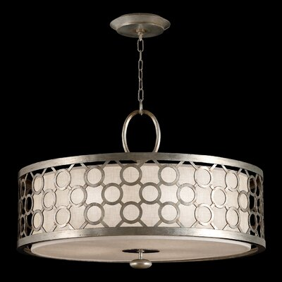 Allegretto Silver 3-Light Drum Pendant Finish: Latinized Silver Leaf