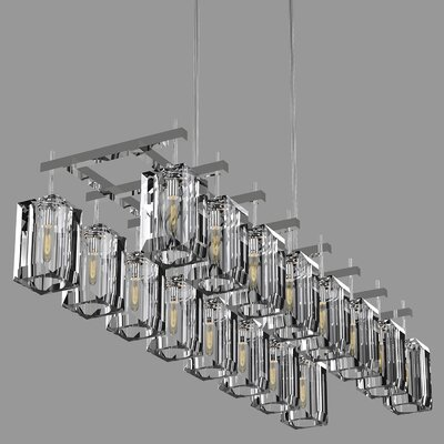 Monceau 16-Light Crystal Chandelier Finish: Silver