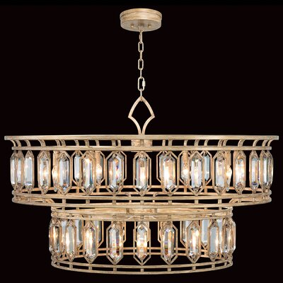 Westminster 20-Light Drum chandelier Finish: Gold