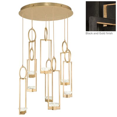 Delphi 8-Light Cluster Pendant Finish: Black