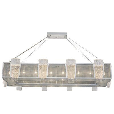 Crownstone Glass 16-Light Candle-Style Chandelier Finish: Silver, Shade Material: Fabric