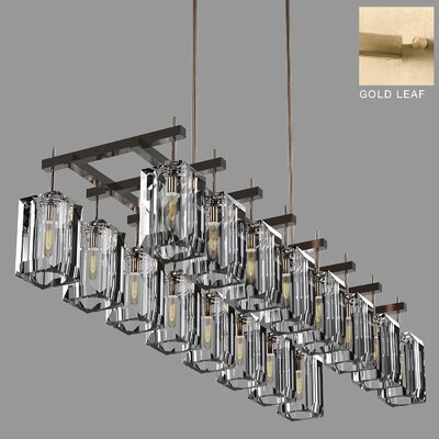 Monceau 16-Light Crystal Chandelier Finish: Gold