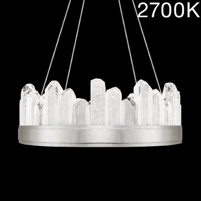 Lior Illuminated Rock 12-Light Crystal Pendant Finish: Silver, Color Temperature: 2700