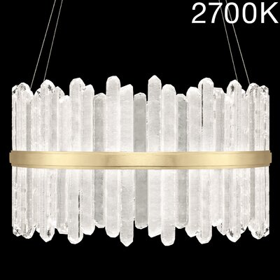 Lior Rock 48-Light Crystal Pendant Finish: Gold, Color Temperature: 2700