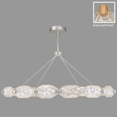 Allison Paladino 24-Light Pendant Finish: Gold, Size: 25 H x 56 W x 56 D