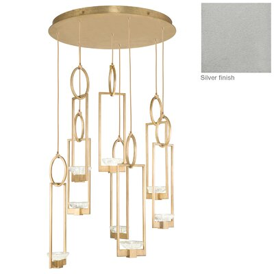 Delphi 8-Light Cluster Pendant Finish: Silver