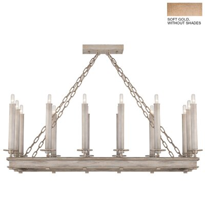 Cienfuegos 14-Light Candle-Style Chandelier Finish: Soft Gold, Shade Included: No, Size: 16.5 H x 41 W x 18.5 D