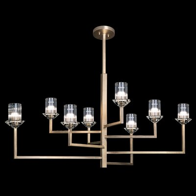 Neuilly 8-Light Sputnik Chandelier Finish: Gold, Size: 23 H x 48 W x 44 D
