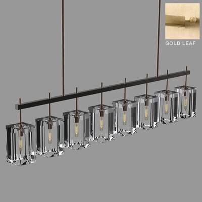 Monceau 8-Light Kitchen Island Pendant Finish: Gold