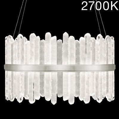Lior Rock 48-Light Crystal Pendant Finish: Silver, Color Temperature: 2700