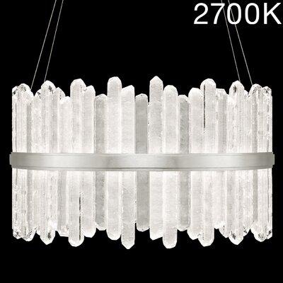 Lior Rock 48-Light Crystal Pendant Finish: Silver, Color Temperature: 2700