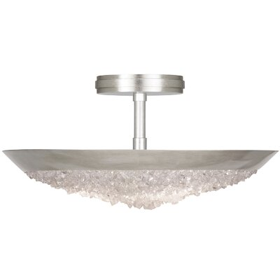 Arctic Halo 3-Light Semi-Flush Mount Fixture Finish: Silver