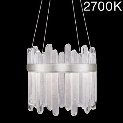 Lior Illuminated Rock 24-Light Crystal Pendant Finish: Silver, Color Temperature: 2700