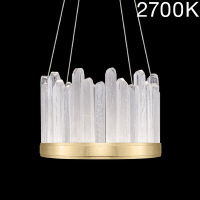 Lior Rock 12-Light Crystal Pendant Finish: Gold, Color Temperature: 2700