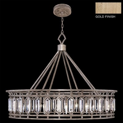Westminster 12-Light Crystal Pendant Finish: Gold