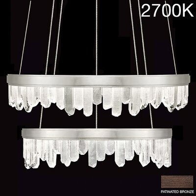 Lior Two Tier Rock 44-Light Crystal Chandelier Finish: Bronze, Bulb Color Temperature: 2700