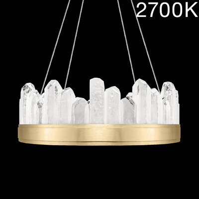 Lior Illuminated Rock 12-Light Crystal Pendant Finish: Gold, Color Temperature: 2700