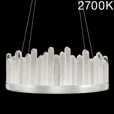 Lior Rock 20-Light Crystal Pendant Finish: Silver, Size: 13.5 H x 30.5 W x 30.5 D