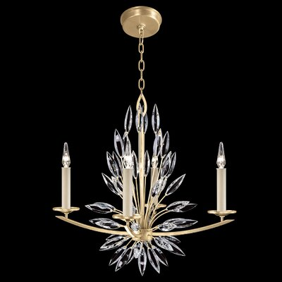 Lily Buds 4-Light Candle-Style Chandelier Finish: Gold