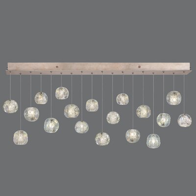 Natural Inspirations Drop Light 18-Light Kitchen Island Pendant Finish: Gold, Size: 20 H x 30.5 W x 30.5 D