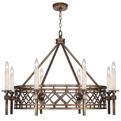 Cienfuegos 8-Light Candle-Style Chandelier Finish: Antique Bronze, Shade Included: No, Size: 27.5 H x 37.5 W x 37.5 D