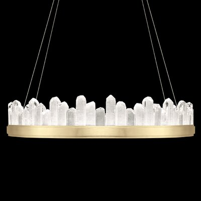 Lior 20-Light Crystal Pendant Finish: Gold