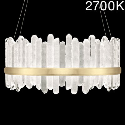 Lior 48-Light Crystal Pendant Finish: Gold, Color Temperature: 2700