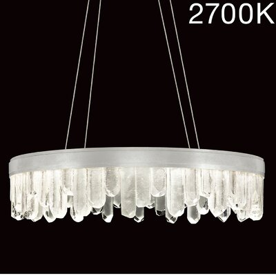 Lior Illuminated Rock 20-Light Crystal Pendant Finish: Silver