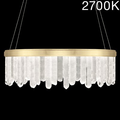 Lior Rock 24-Light Crystal Pendant Finish: Gold, Color Temperature: 2700