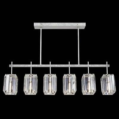 Monceau 6-Light Kitchen Island Pendant Finish: Silver