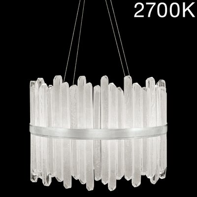 Lior Rock 40-Light Crystal Pendant Finish: Silver, Color Temperature: 2700