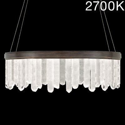 Lior Rock 24-Light Crystal Pendant Finish: Bronze, Color Temperature: 2700