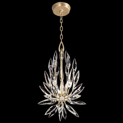Lily Buds Tear Drop 3-Light Crystal Pendant Finish: Gold
