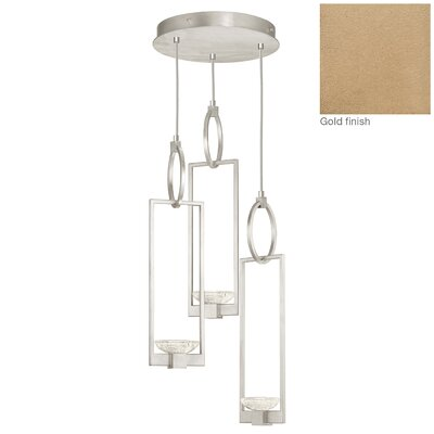 Delphi 3-Light Cluster Pendant Finish: Gold