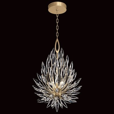 Lily Buds 3-Light Crystal Pendant Finish: Gold