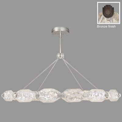 Allison Paladino 24-Light Pendant Finish: Bronze, Size: 24 H x 56 W x 56 D
