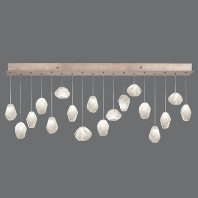 Natural Inspirations Quartz Drop 18-Light Kitchen Island Pendant Finish: Gold