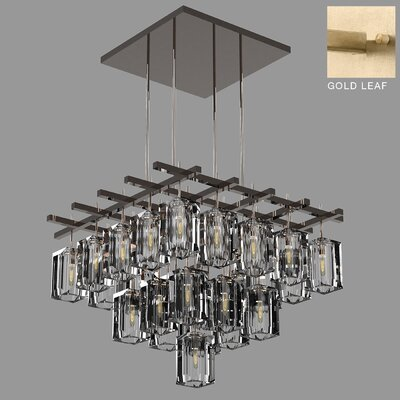 Monceau 25-Light Crystal Chandelier Finish: Gold