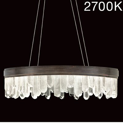 Lior Illuminated Rock 20-Light Crystal Pendant Finish: Bronze