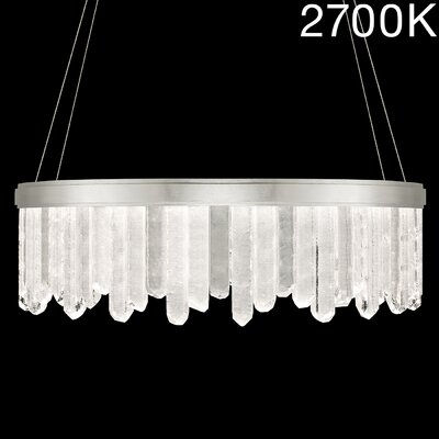 Lior Rock 24-Light Crystal Pendant Finish: Silver, Color Temperature: 2700