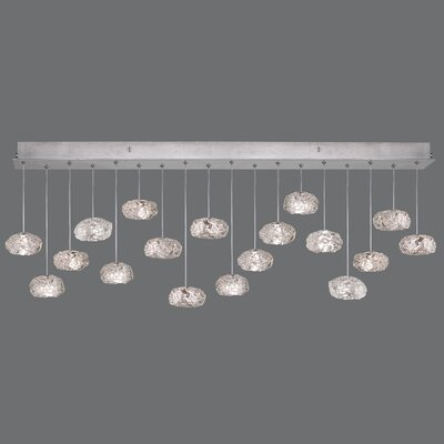 Natural Inspirations 18-Light Kitchen Island Pendant Finish: Silver
