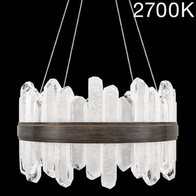 Lior Rock 24-Light Crystal Pendant Finish: Bronze, Color Temperature: 2700, Size: 25 H x 21 W x 21 D