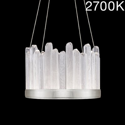 Lior Rock 12-Light Crystal Pendant Finish: Silver, Color Temperature: 2700