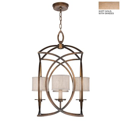 Cienfuegos 4-Light Foyer/Lantern Pendant Finish: Soft Gold