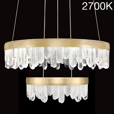 Lior 32-Light Crystal Chandelier Finish: Gold, Bulb Color Temperature: 2700