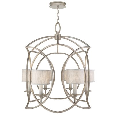 Cienfuegos 6-Light Candle-Style Chandelier Finish: Weathered Gray Patina, Shade Included: No, Size: 36 H x 28.5 W x 28.5 D
