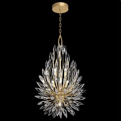 Lily Buds 6-Light Crystal Pendant Finish: Gold