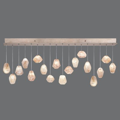 Natural Inspirations 18-Light Kitchen Island Pendant Finish: Gold